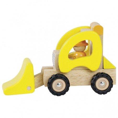 jouet en bois tracteur chargeur Goki