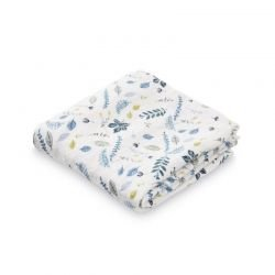 Lange doudou en coton bio 70 x 70 cm Cam Cam, motif fleurs