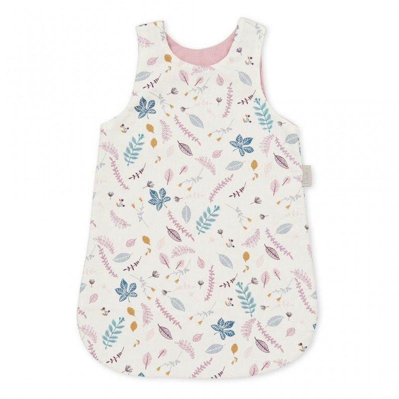 Poupée habillée de la gigoteuse motif Feuilles roses par Cam Cam Copenhagen