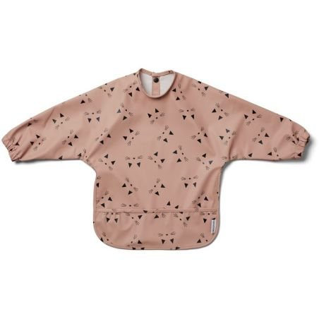 Tablier imperméable chat Rose