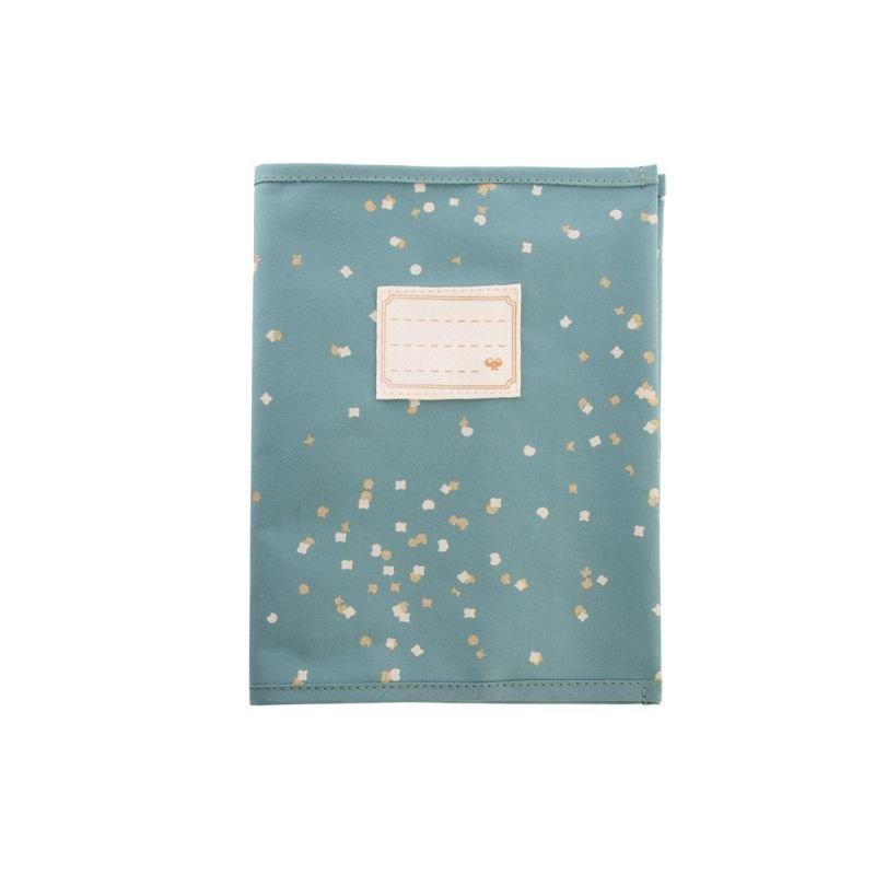 Protège cahier Vert confettis