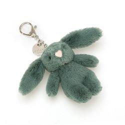 Porte clé peluche lapin vert