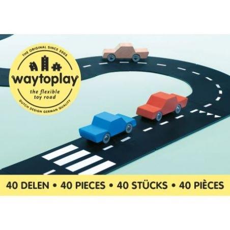 Routes flexibles 40 pièces - roi de la route - Way to play