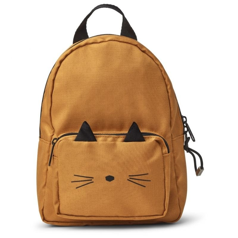Petit sac à dos chat moutarde