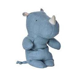 Doudou rhinocéros Bleu