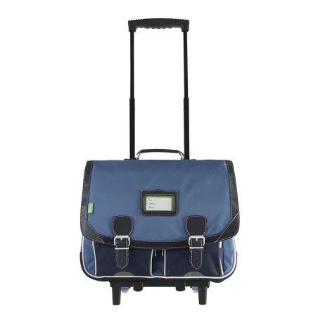 Cartable 41 cm à roulettes Bleu de prusse