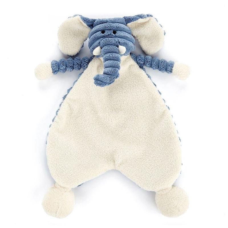 Doudou Éléphant plat cordy