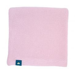 Couverture 100% coton rose