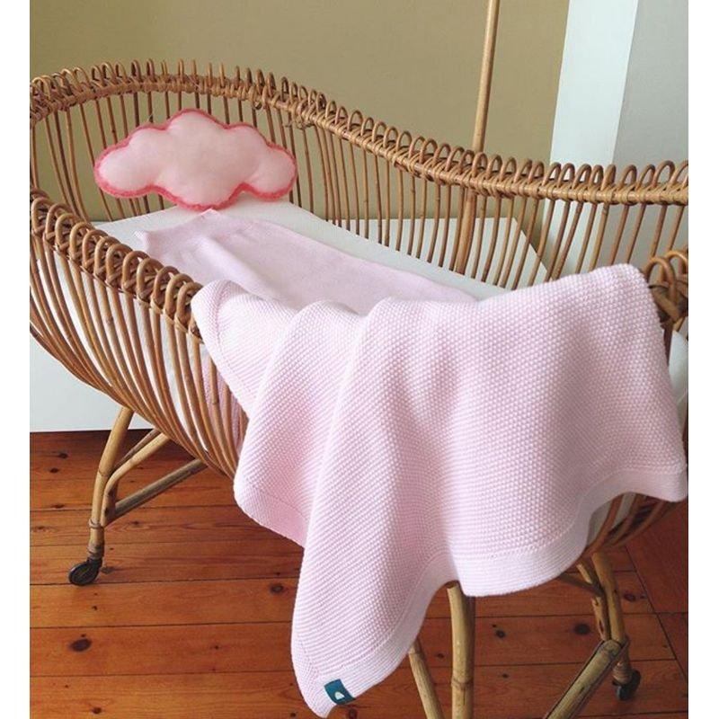 Couverture 100% coton rose