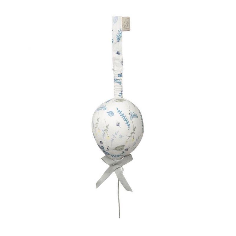 Suspension montgolfière feuilles bleues
