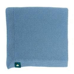 Couverture 100% coton bleu