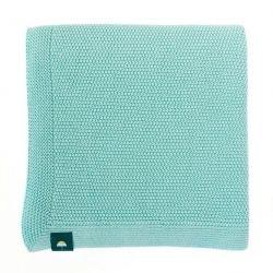 Couverture 100% coton menthe