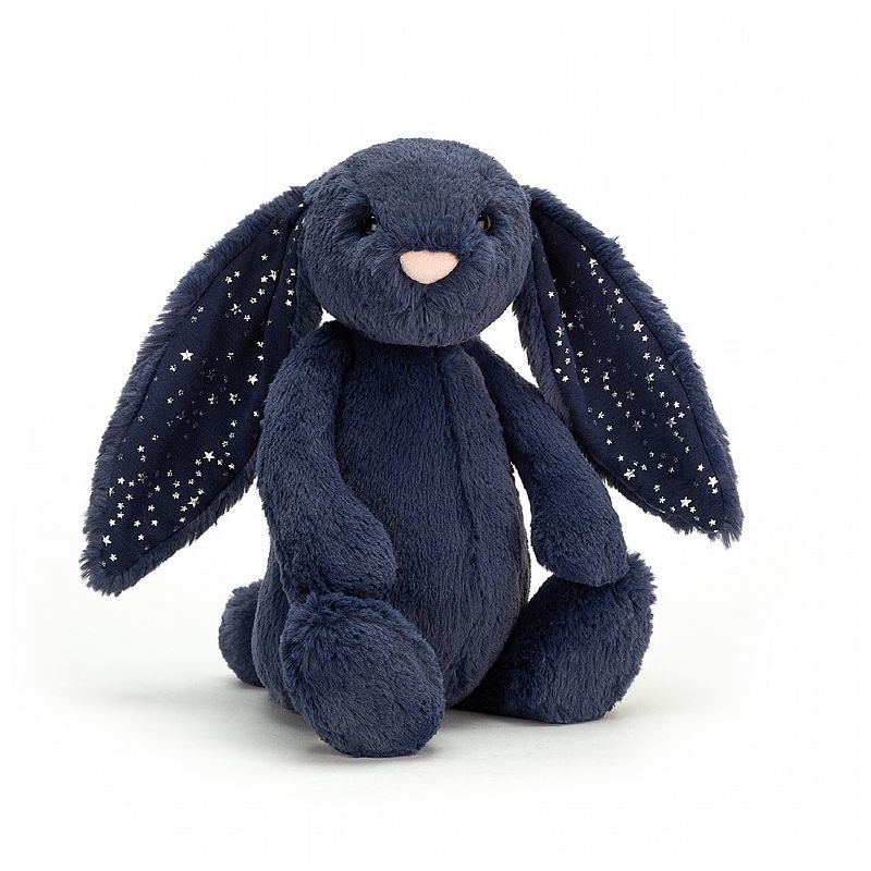 Lapin Bleu étoiles Bashful 31 cm