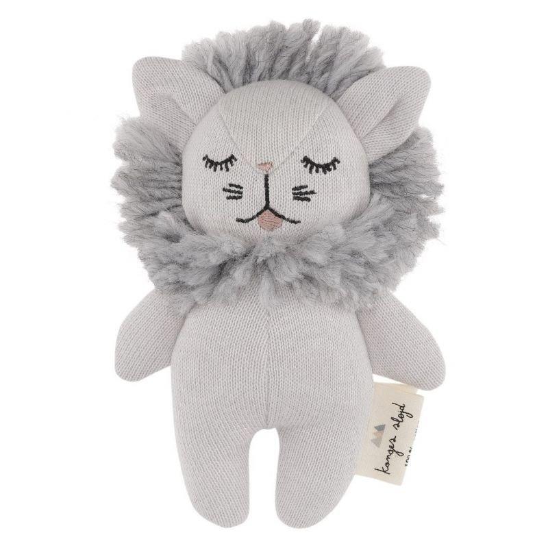 Doudou hochet lion gris