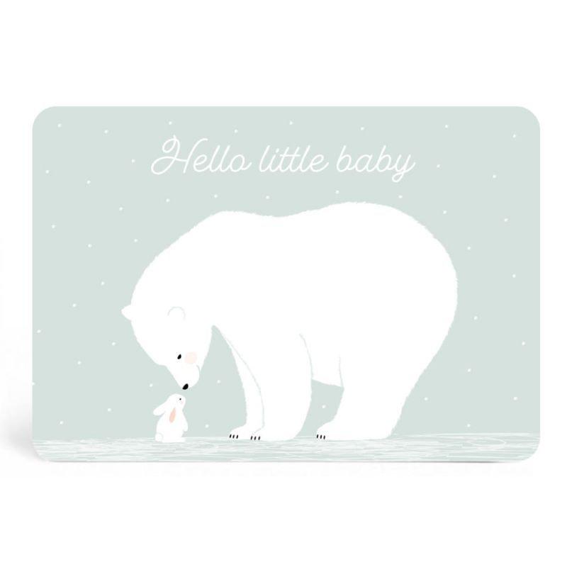 Carte Hello little baby vert
