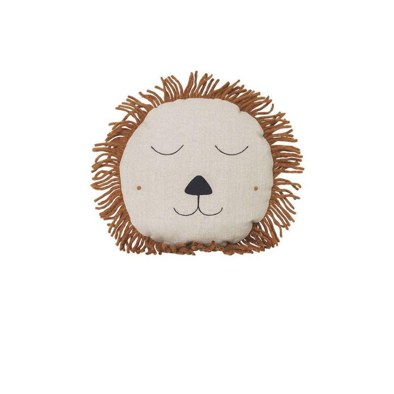 Coussin tête de lion