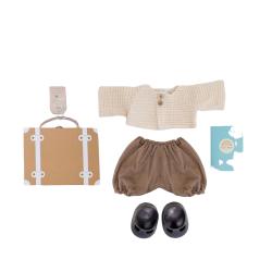 Valise vêtements poupée terracota