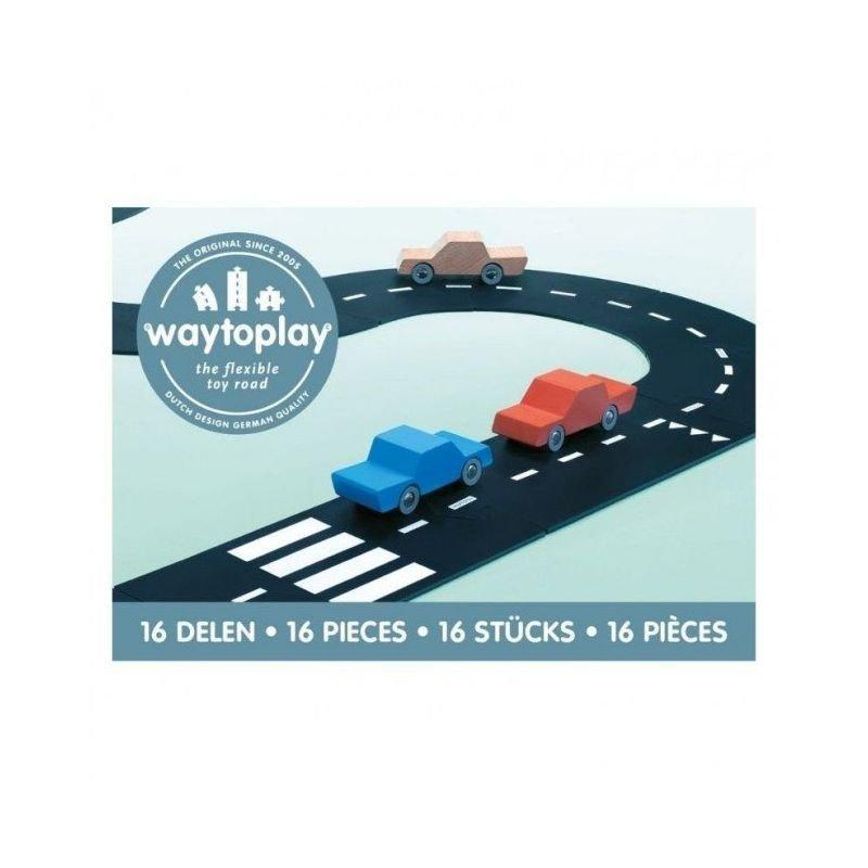 16 pièces de routes flexibles en PVC souple pour jouer et créer une route