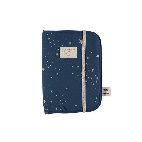 Protège carnet Poema gold stella bleu