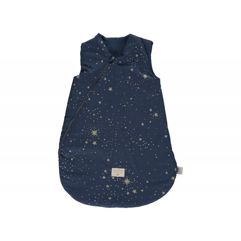 Gigoteuse Large Cocoon Gold stella bleu nuit par Nobodinoz