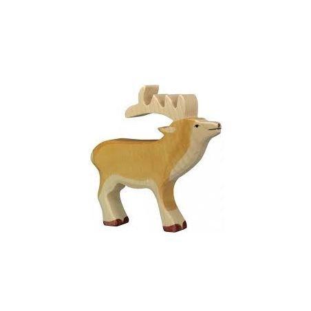 Cerf en bois - Holztiger