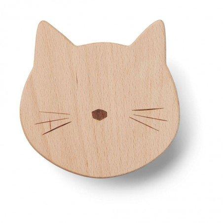 Patère en bois chat par Liewood pour accrocher un vêtement