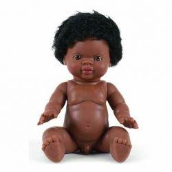 Poupée garçon Afrique avec cheveux