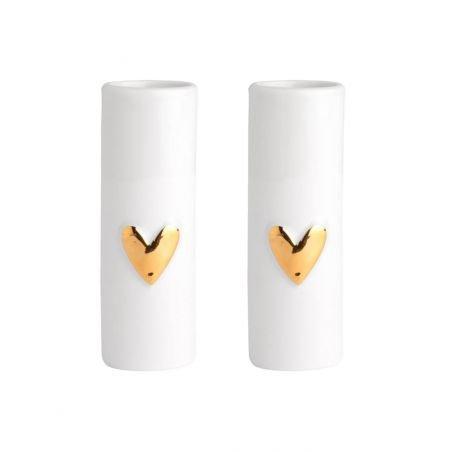 Lot de 2 mini vases coeur