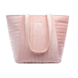 Sac de maternité velours Rose