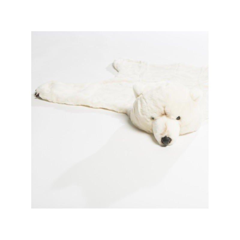 Déguisement et tapis en forme d'ours blanc en détails