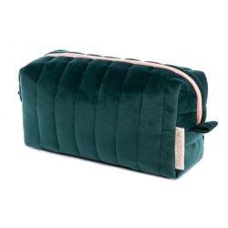 Trousse velours vert