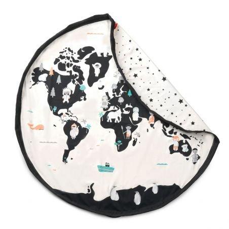 """Tapis de jeu et sac de rangement «carte du monde"""""""
