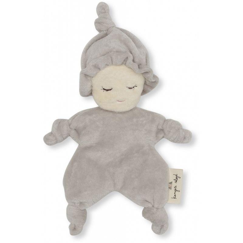 Mini poupée tissu gris clair