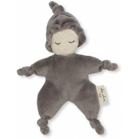 Mini poupée tissu gris foncé