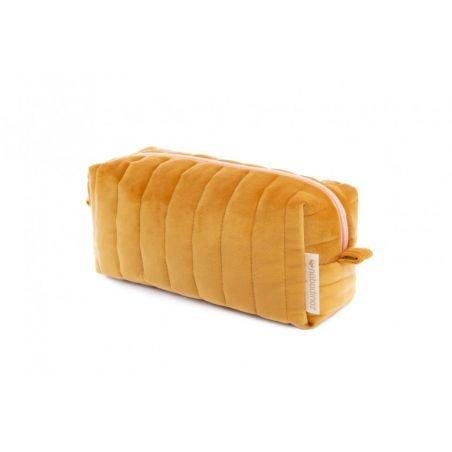 Petite trousse velours Moutarde
