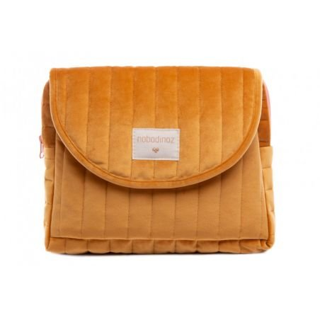 Trousse velours Moutarde