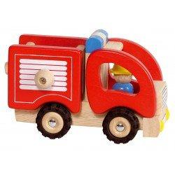 Camion de pompiers en bois - Goki