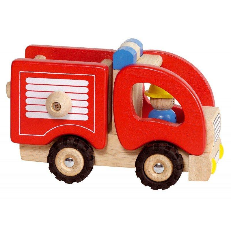 Fonctionnement du camion de pompiers en bois - Goki