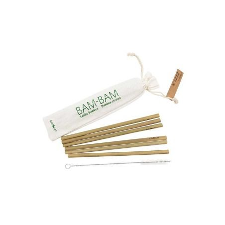 Pailles en bambou et écouvillon de lavage