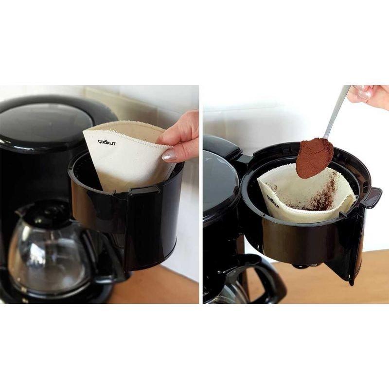2 Filtres à café réutilisables en coton