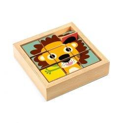 9 cubes puzzle bois - Tournanimo