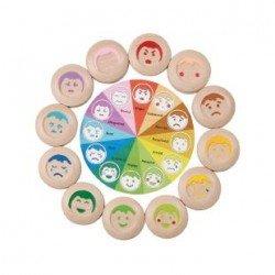 Jeu en bois écologique loto des expressions Plan Toys