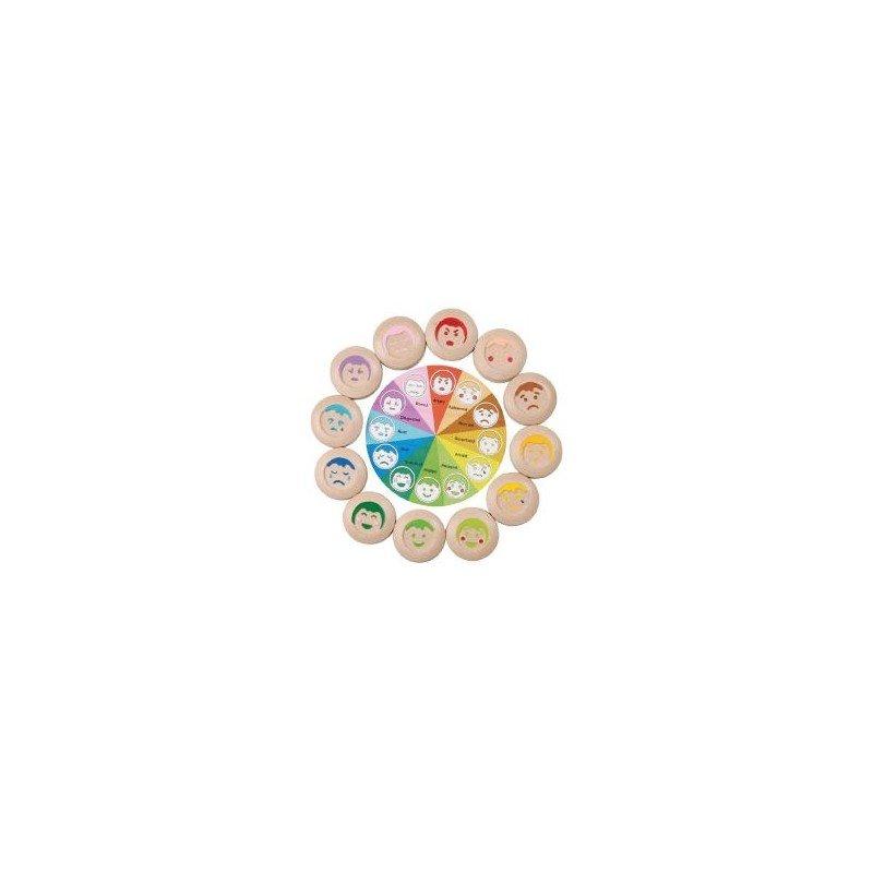 Jeu en bois écologique loto des expressions Plan Toys détails