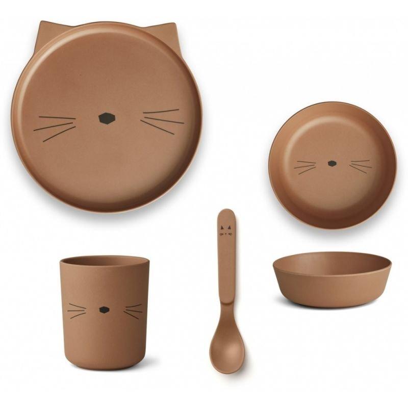 Box repas Chat terracotta en bambou
