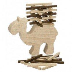 Jeu d'équilibre en bois en forme de chameau