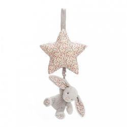 Lapin étoile musical blossom gris