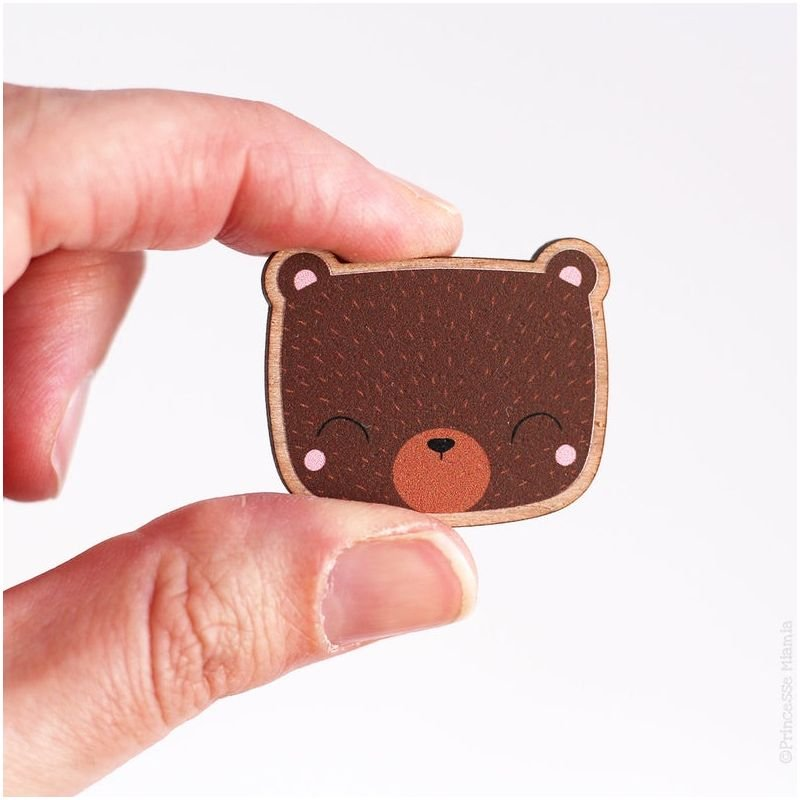 Broche Ours brun