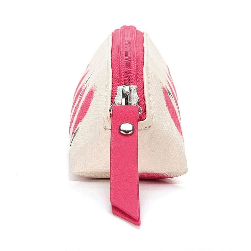 Trousse à stylos Flamant rose par Jellycat vu de côté