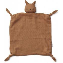 Doudou Lange Chat Terracotta en coton bio