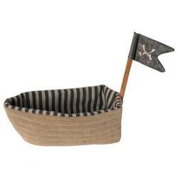 Petit bateau pirate en tissu